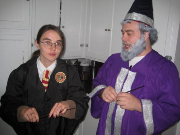 Item 1) What I dressed up for this Halloween. Gay Dumbledore.
